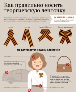 Как правильно носить георгиевскую ленту