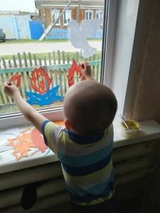 Окна помогают внуки